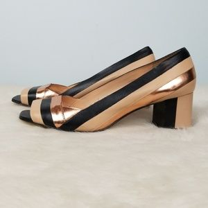 Vince Camuto striped block heels